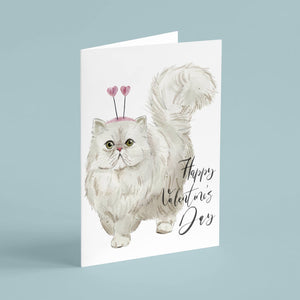 Valentine's Day Cat Cards - 24 Pack