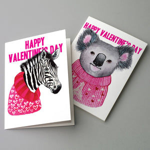 Valentine's Day Animal Cards - 24 Pack