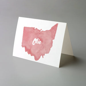Ohio Silhouette Greeting Cards - 24 Pack