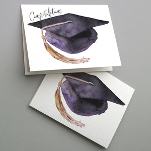 Purple Graduation Cards - 24 Pack