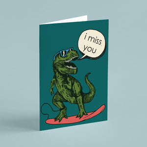 Dinosaur I Miss You Cards - 24 Pack