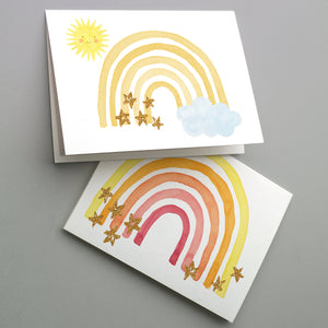 Cheerful Rainbow Greeting Cards - 24 Pack