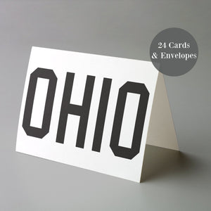 Ohio Greeting Cards - 24 Pack