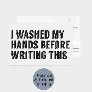 Social Distancing Postcards - I Washed My Hands - 32 Pack