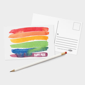 Rainbow Happy Pride Postcards - 32 Pack