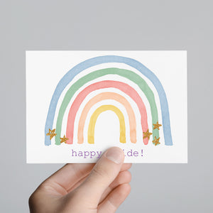 Happy Pride Pastel Rainbow Greeting Cards - 24 Pack
