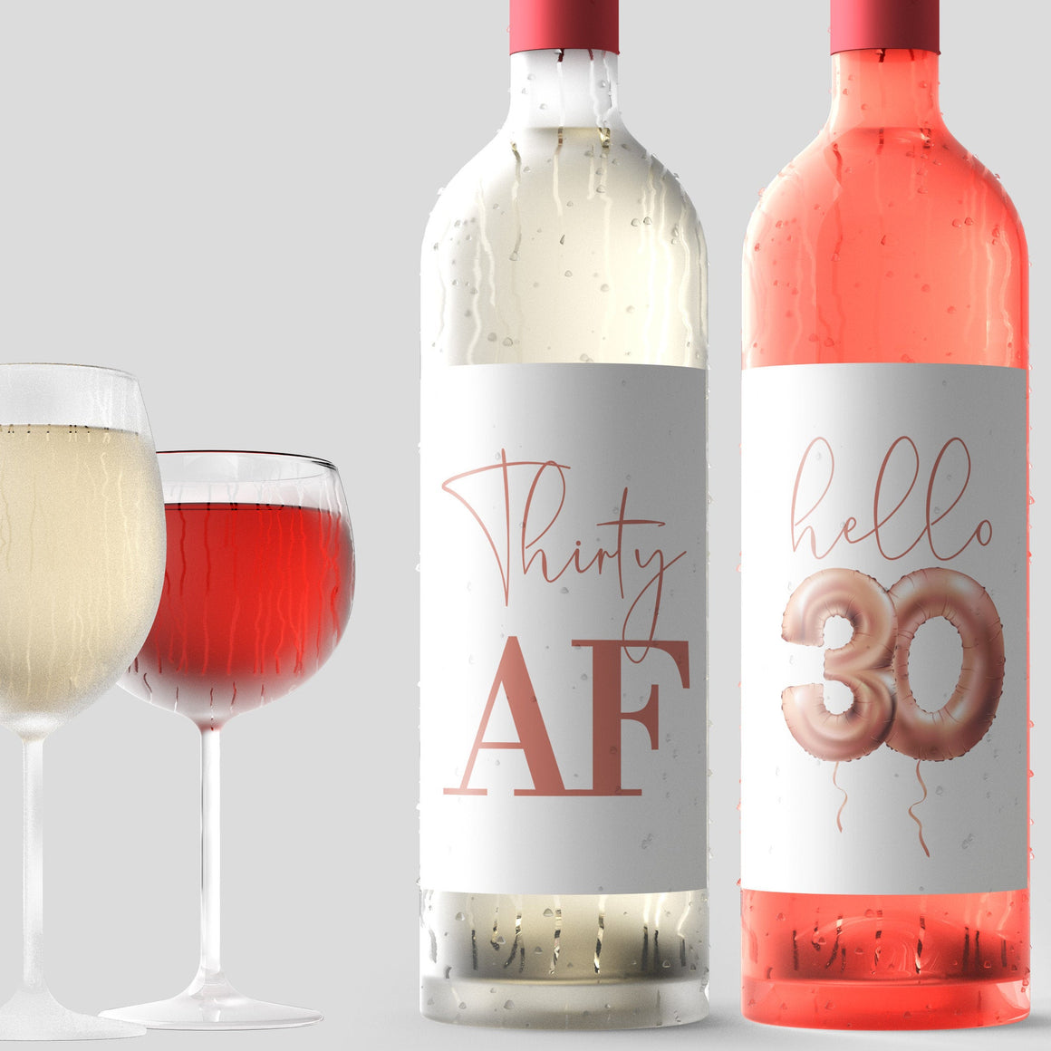 any colour Personalised Pink Photo 30th Birthday Gift Wine Label