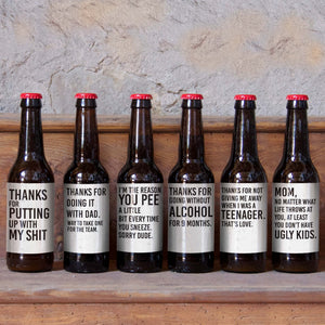Mother's Day Beer Labels - 6 Pack