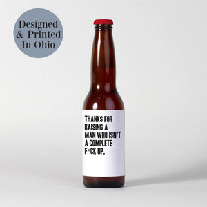 Father's Day Beer Labels for Father-In-Law - 6 Pack