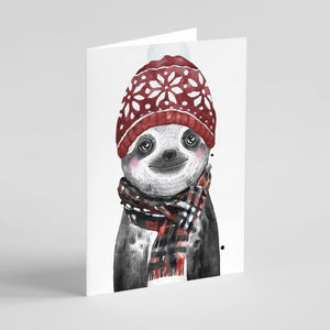 Baby Animal Winter Greeting Cards - 24 Pack