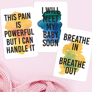 Birth Affirmations | 16 Cards for Positive Labor & Childbirth