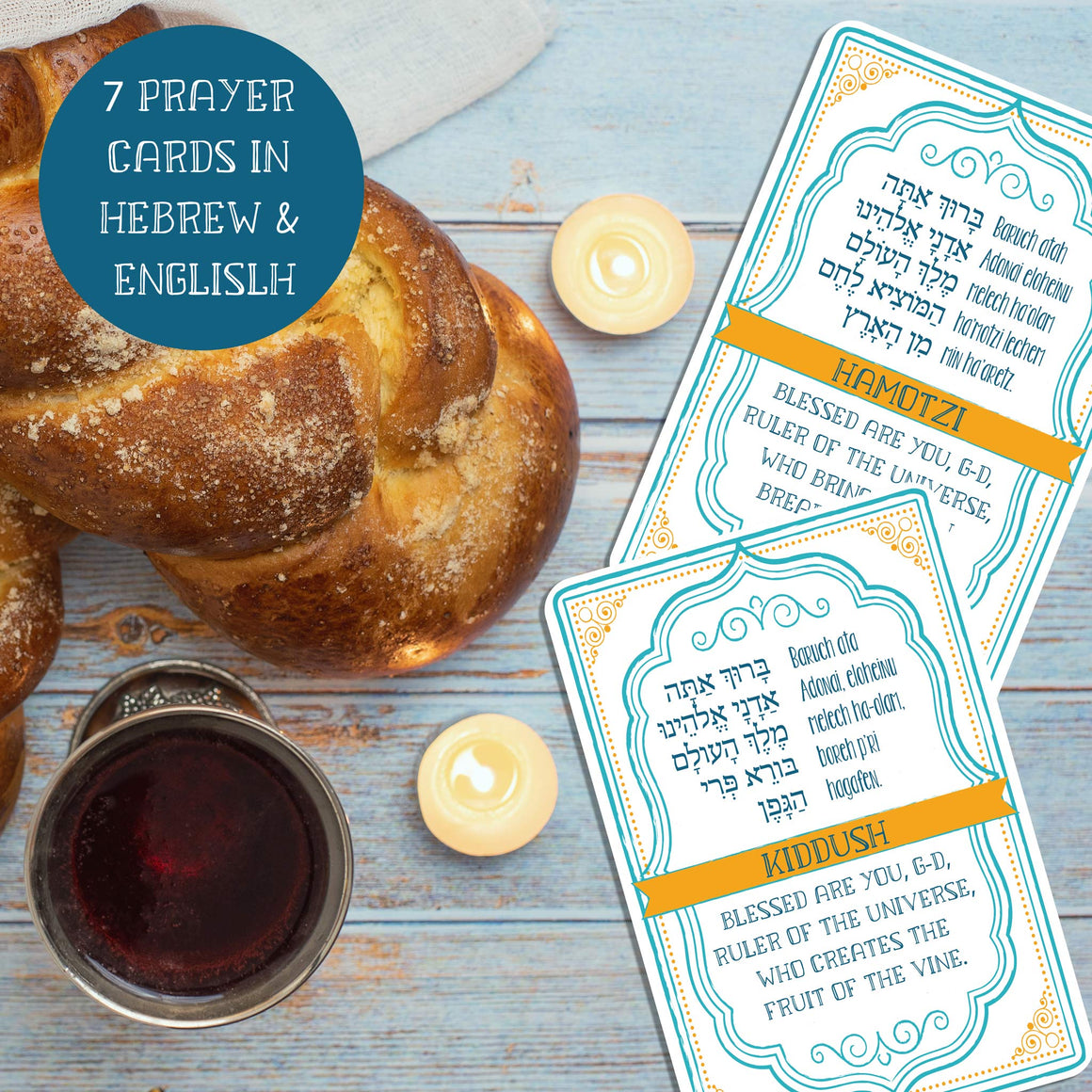 Daily & Weekly Jewish Blessing Cards