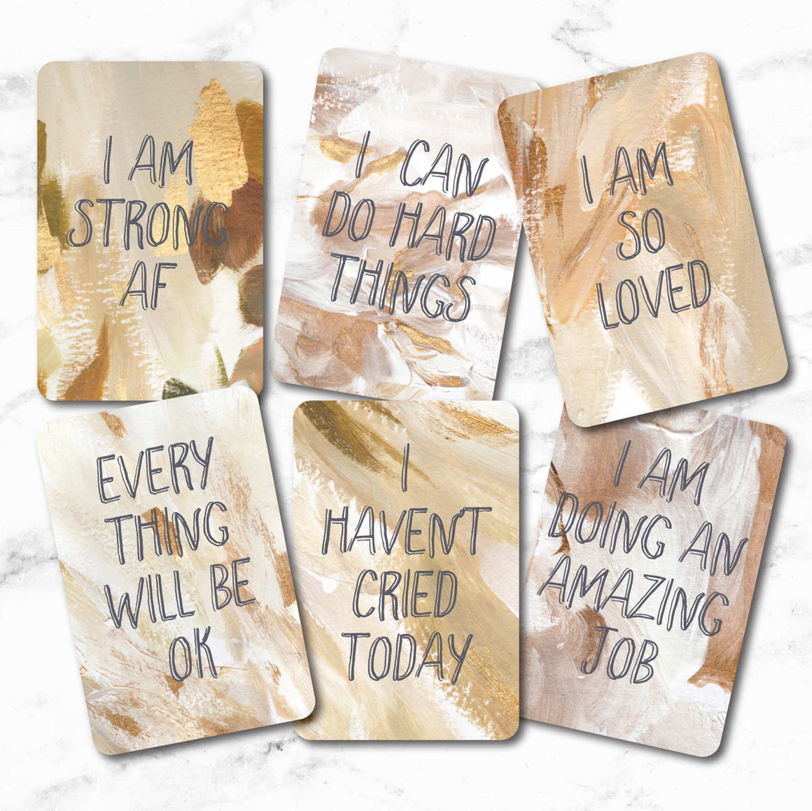Daily Affirmation Cards | Deck of 18 Uplifting Cards