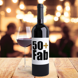 50th Birthday Party Wine Bottle Labels Pack of 4 Funny Wine Labels Slayin' Since '69 50th Bday Party Stickers Aged to Perfection 50 Fab 9219
