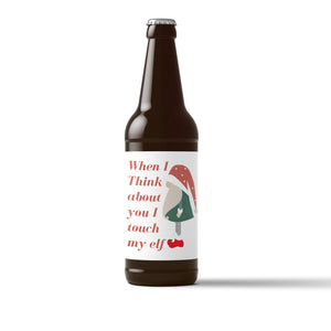 Festive Holiday Beer Labels - 6 Pack