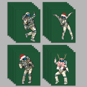Dancing Astronaut Christmas Cards - 24 Pack