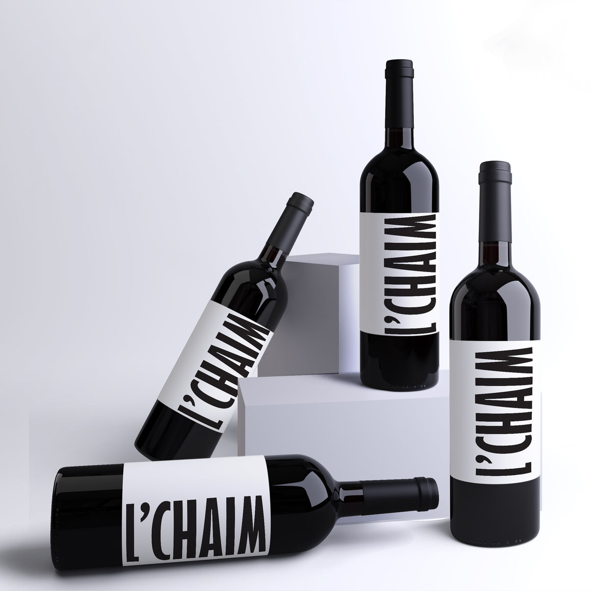 L'Chaim Wine Labels - 4 Pack