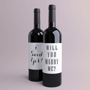 Proposal Wine Bottle Labels | 2 Pack