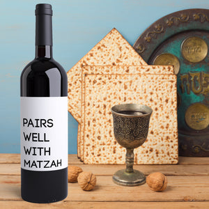 Passover Wine Bottle Labels - 8 Pack