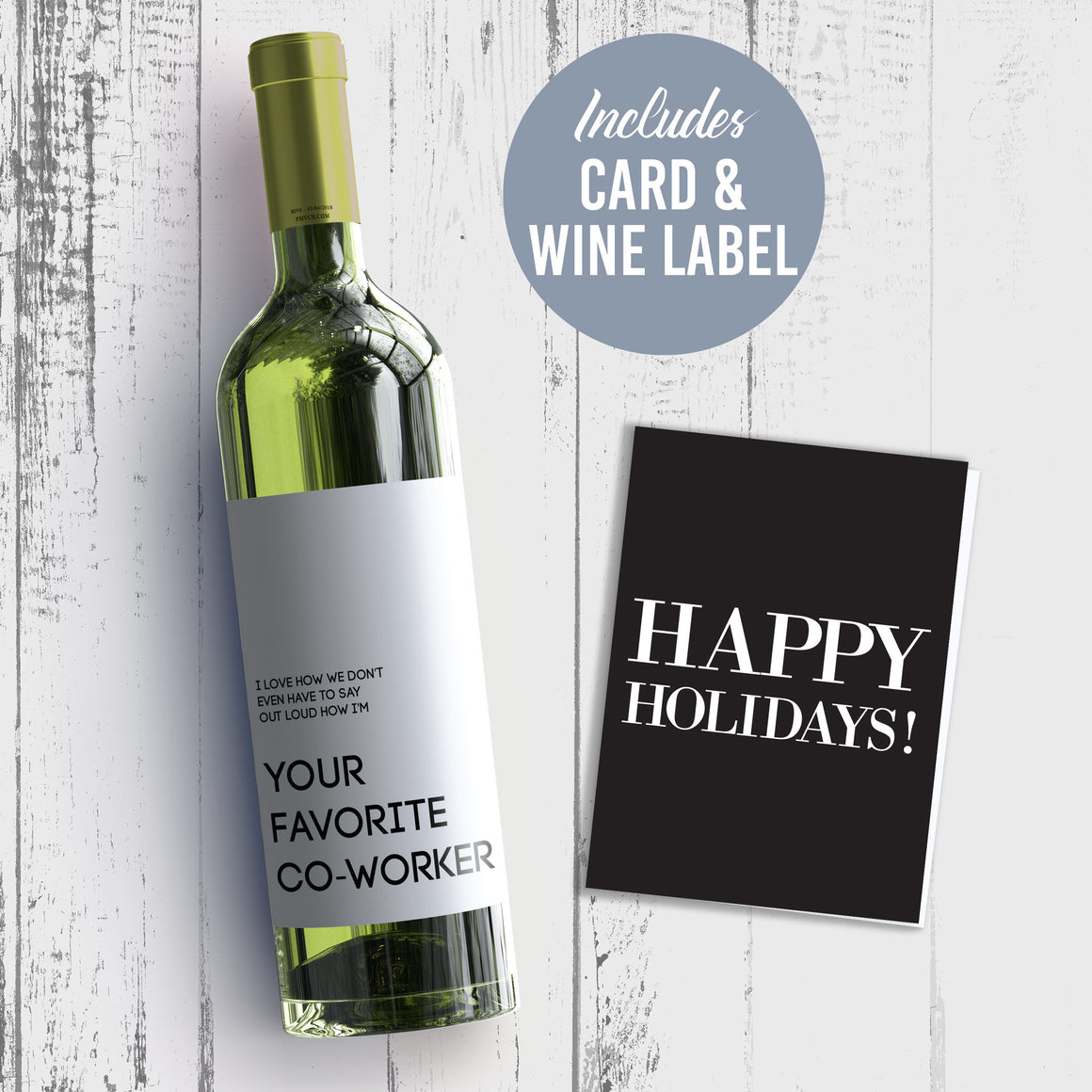 I Love How We Don't Even Have To Say Out Loud How I'm Your Favorite Co-Worker Wine Label