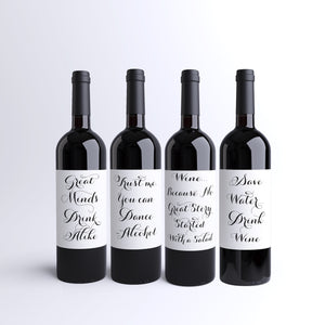 Wine Lover 4 Pack of Wine Bottle Labels