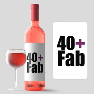 40th Birthday Party Wine Labels - 4 Pack