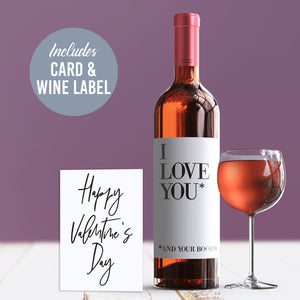 Naughty Valentine's Day Wine Label + Card For Her
