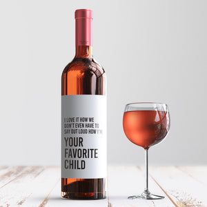 Your Favorite Child Mother's Day Wine Label + Card