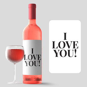 I Love You Mother's Day Wine Label + Card