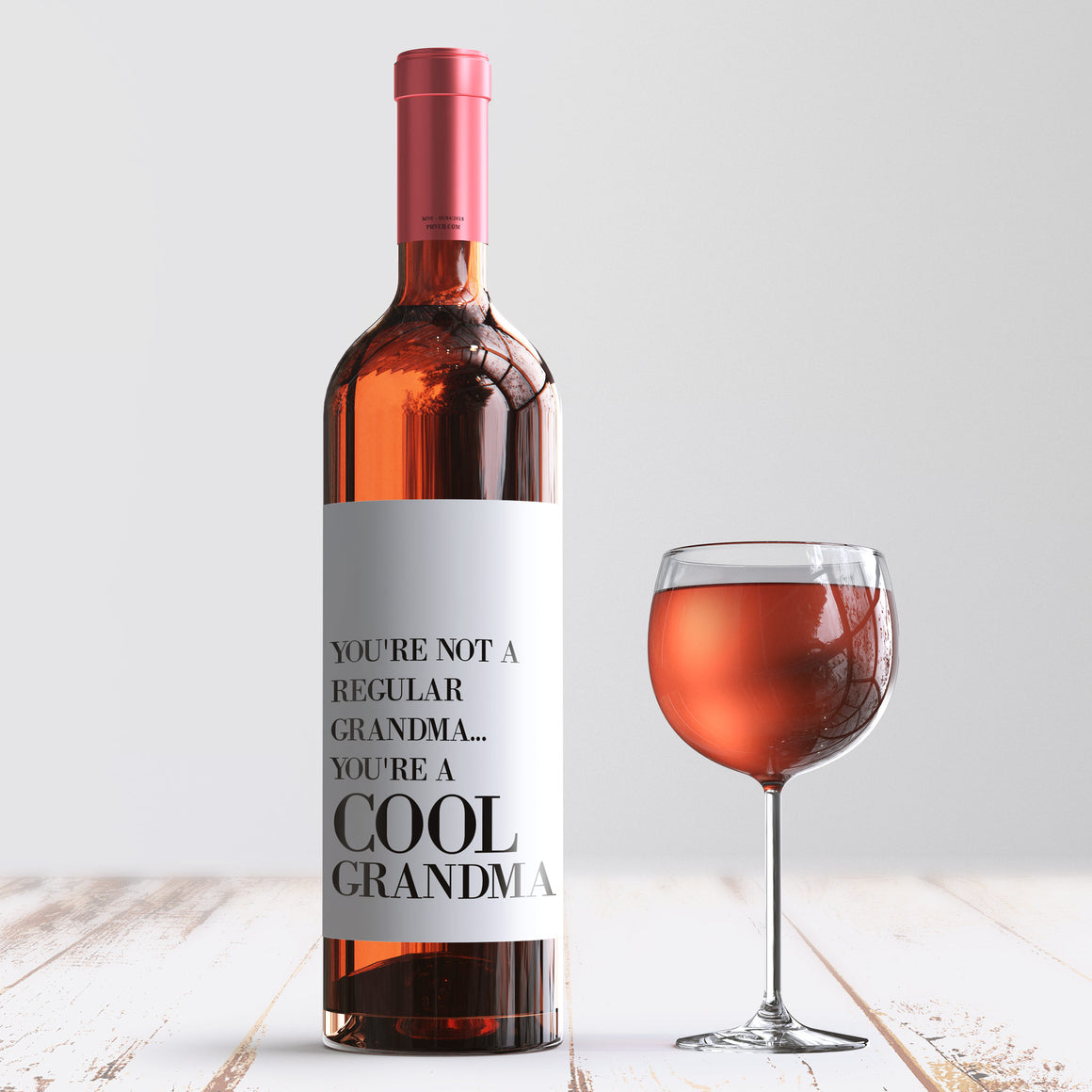 Cool Grandma Mother's Day Wine Label + Card