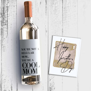 Cool Mom Mother's Day Wine Label + Card