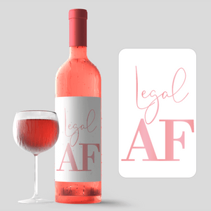 21st Birthday Pink Balloon Wine Labels - 4 Pack