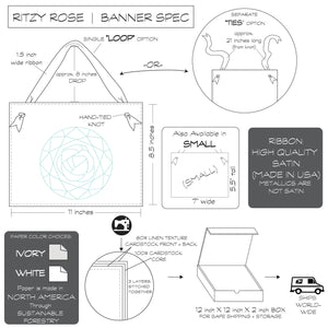 Ritzy Rose Hanging Banner Spec