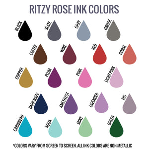 Ritzy Rose Ink Color Options Swatch Card