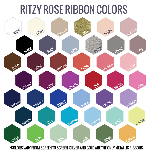 Ritzy Rose Ribbon Color Options Swatch Card