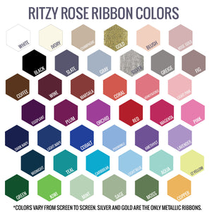 Ritzy Rose Ribbon Swatch Color Card