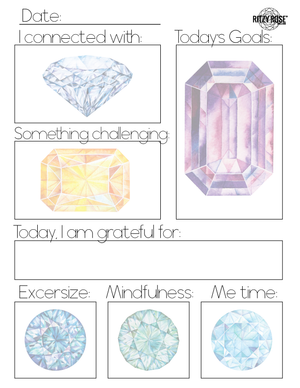 Daily Journal Page for Adults (Gemstones) - Digital Download