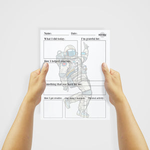 Daily Journal for Children (Astronaut) - Digital Download