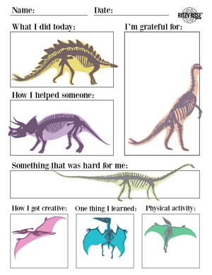 Daily Journal for Children (Dinos) - Digital Download