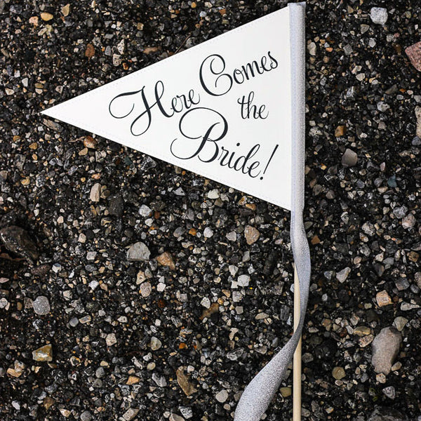 Here Comes The Bride Wedding Sign | Small