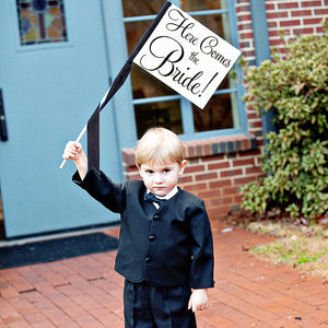 Here Comes The Bride Wedding Sign | Ring Bearer