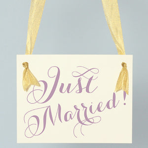 Just Married Sign for Wedding