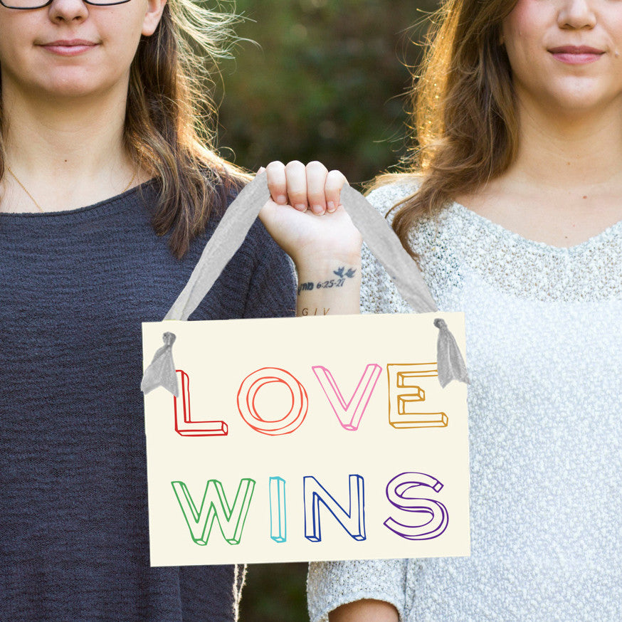 Love wins gay pride banner