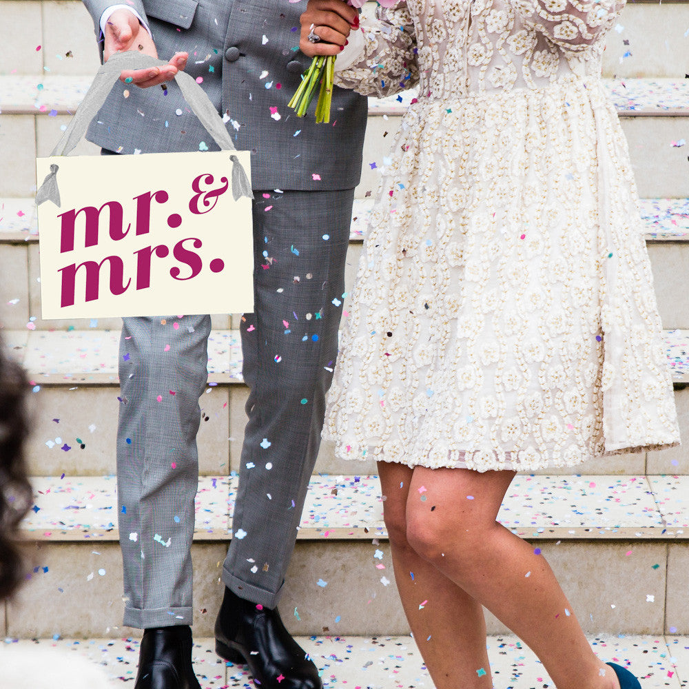Mr. and Mrs. Banner for Bride and Groom Signage