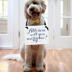Personalized Will You Marry Me Banner for Proposal