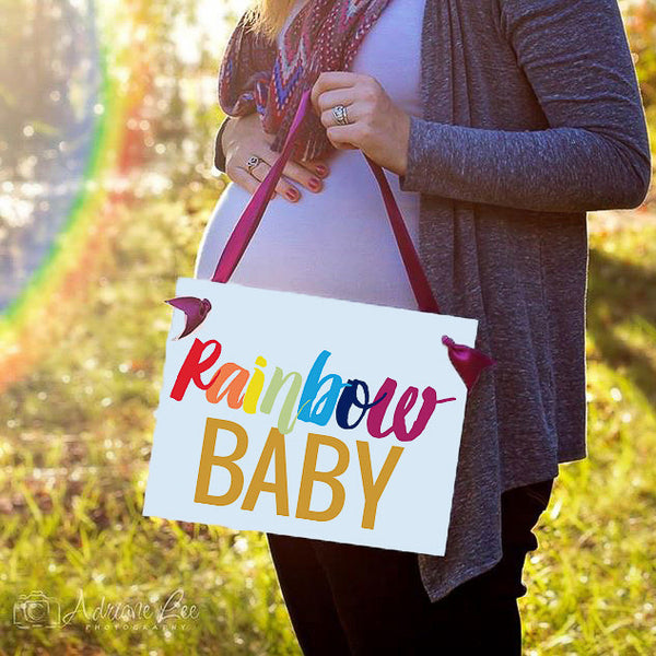 Rainbow Baby Banner after Pregnancy Loss or Miscarriage