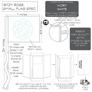 Ritzy Rose Flag Spec