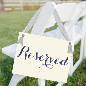 Reserved Seat Sign for Wedding Ceremony or Event