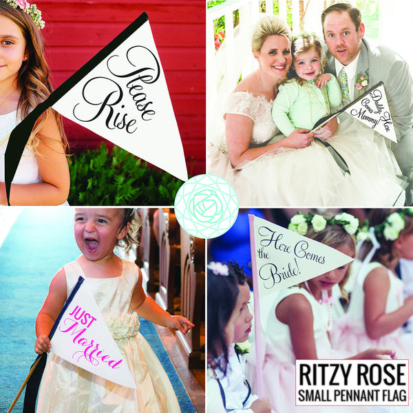 Ritzy Rose Pennant Flags Examples