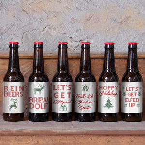 Funny Beer Lover Christmas Labels - 6 Pack